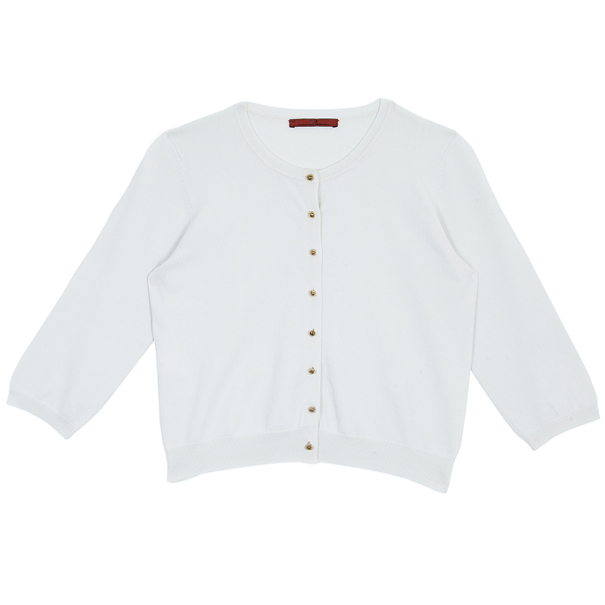 Carolina Herrera White Knit Cardigan XS
