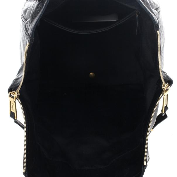 Yves Saint Laurent Large Black Downtown Tote