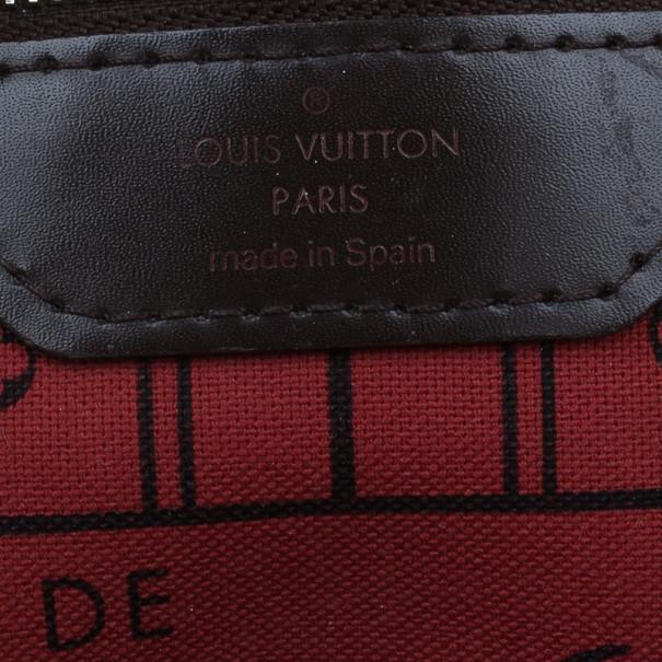 Louis Vuitton Ebene Canvas Damier Neverfull MM