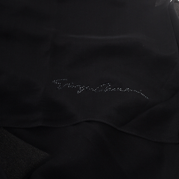 Giorgio Armani Black Silk Scarf