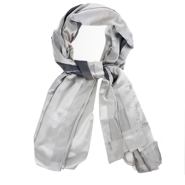 Chanel Grey Metallic Stole
