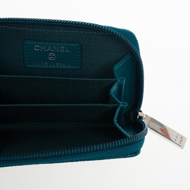 Chanel Caviar Zip Around Coin Purse