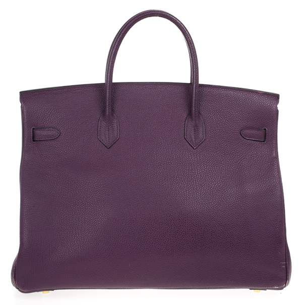 Hermes Purple Epsom Leather Birkin 40cm