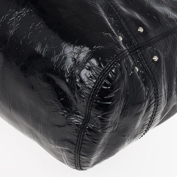 Tod's Black Patent Creta Leather Bag