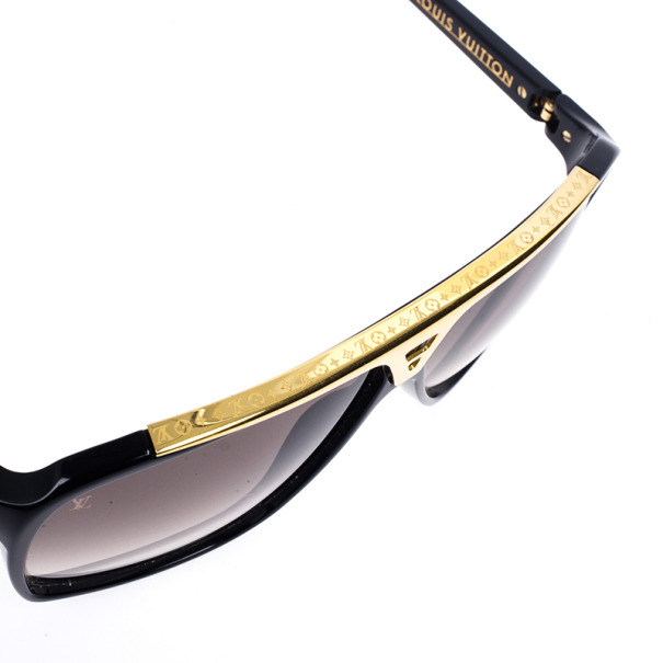 Louis Vuitton Black and Gold Evidence Men Sunglasses
