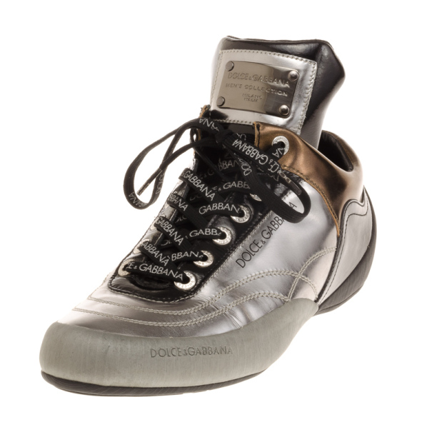 Dolce and Gabbana Metallic Limited Edition Sneakers Size 42.5
