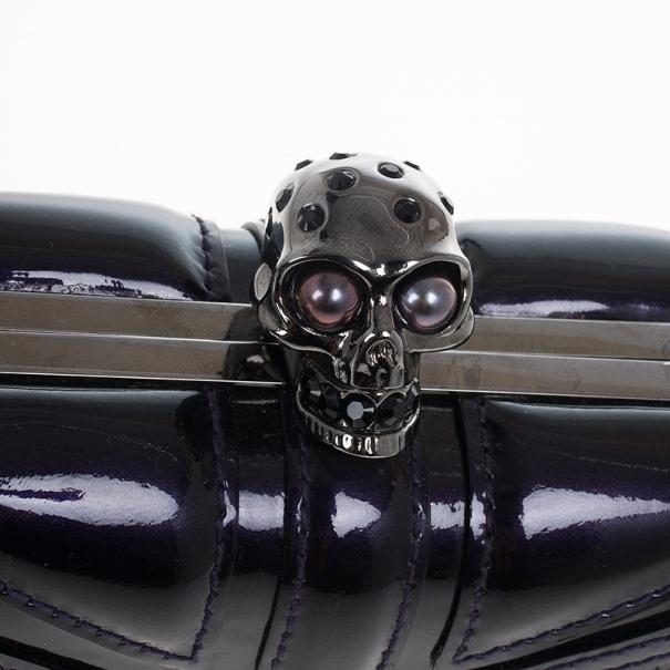 Alexander McQueen Purple Britannia Clutch