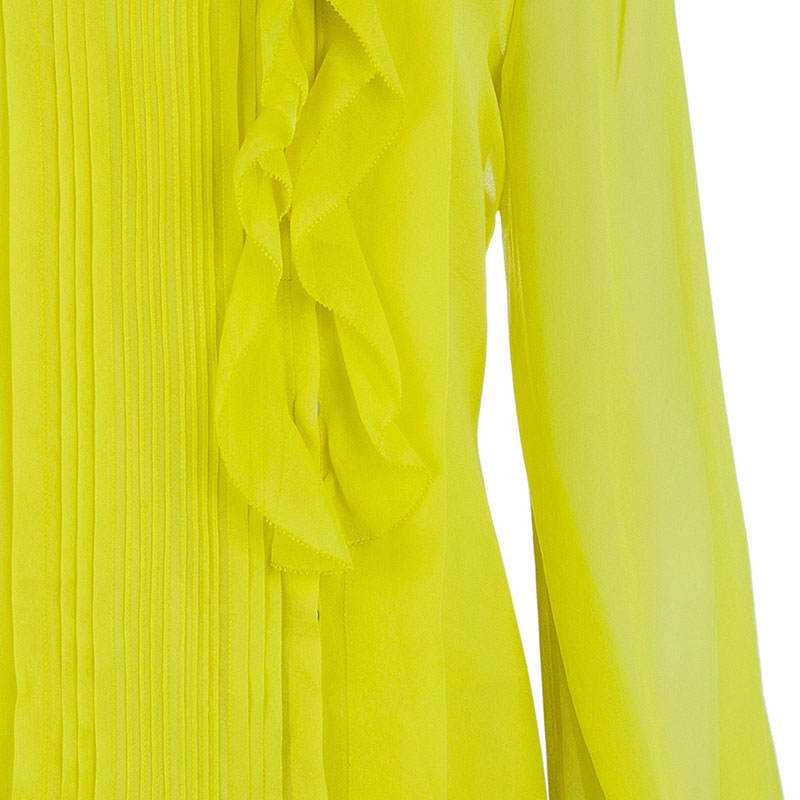 Diane Von Furstenberg Yellow Kelly Top L