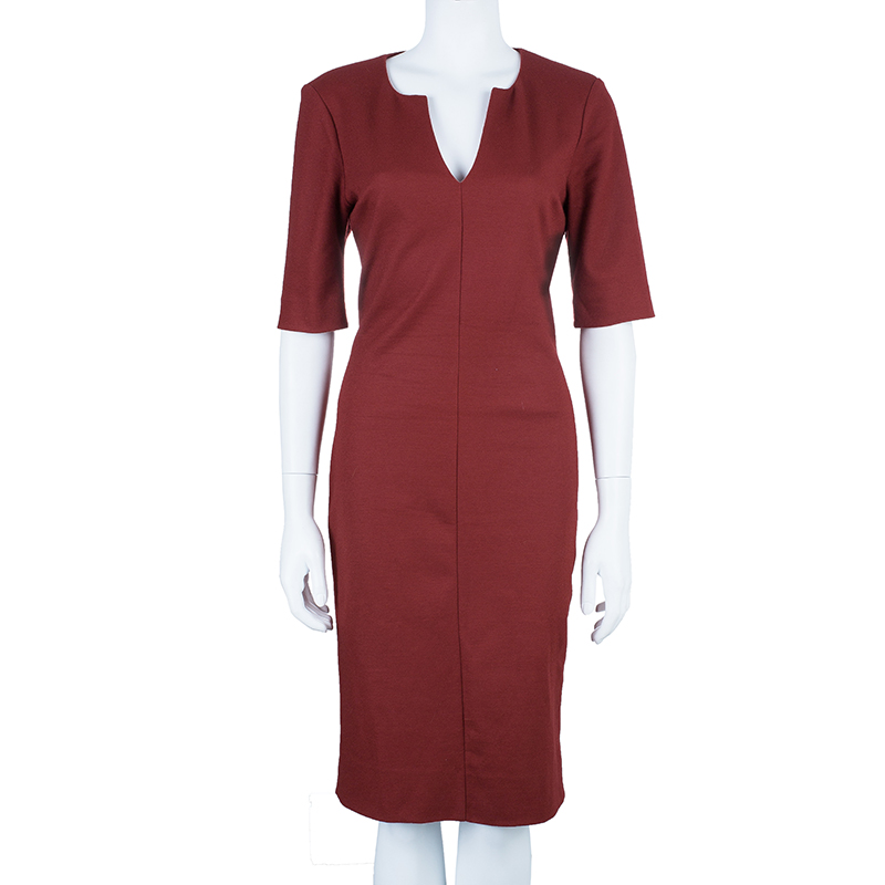 Diane Von Furstenberg Aurora Wool Sheath Dress L