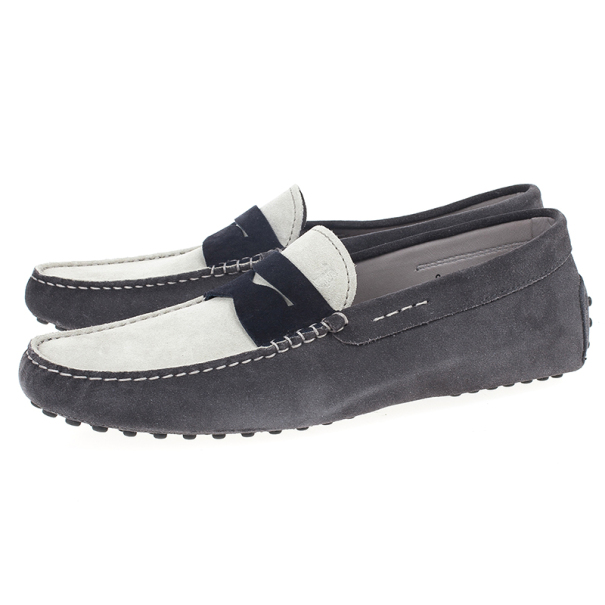 Tod's Colorblock Suede Penny Loafers Size 42