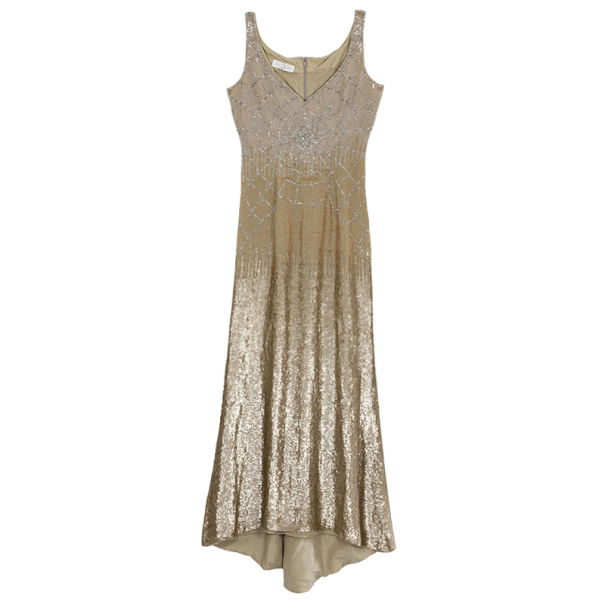 Escada Sequin Ombre Dress M