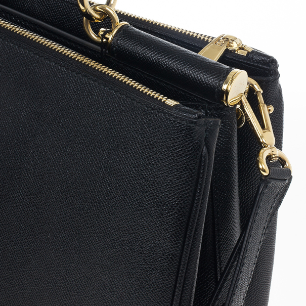 Dolce and Gabbana Sicily Black Large Satchel