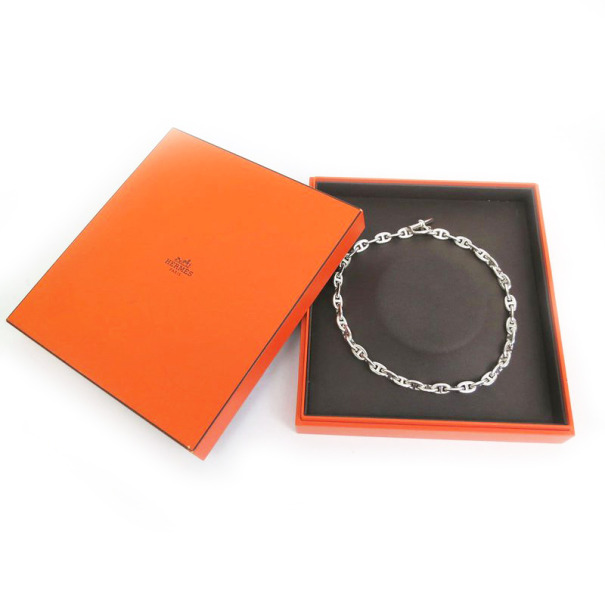 Hermes Chaine d'Ancre Silver Necklace MM