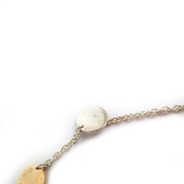 Hèrmes Confetti 18kt White and Rose Gold Long Necklace