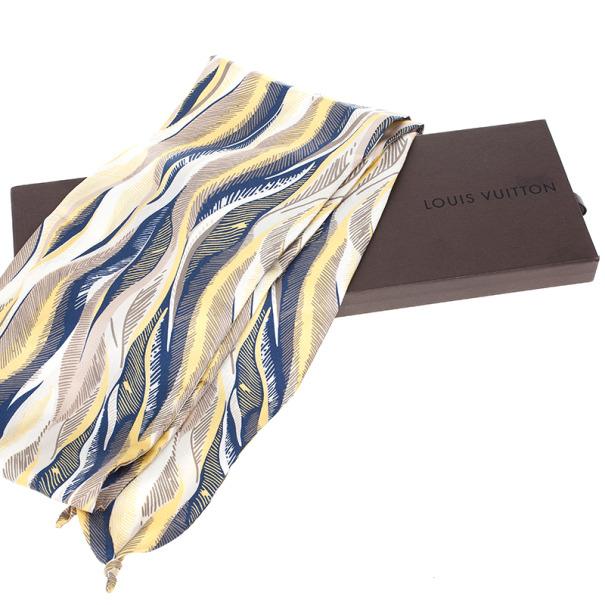Louis Vuitton Silk Printed Men Scarf