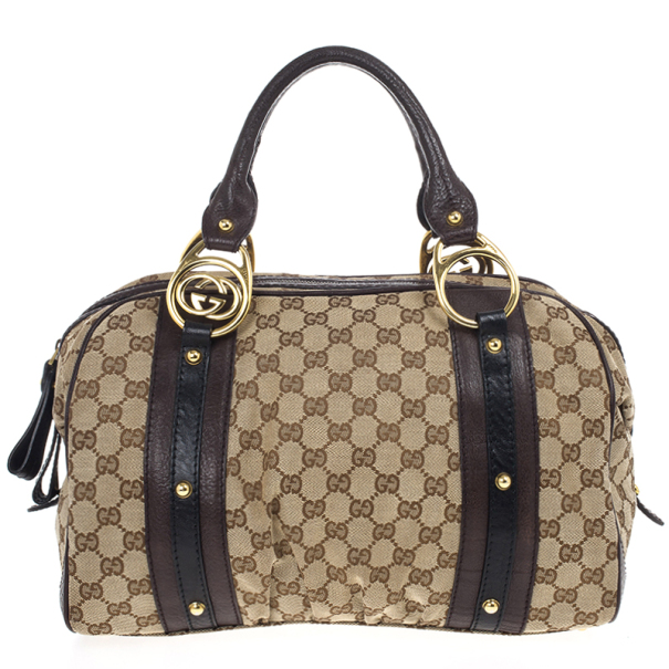 Gucci Interlocking Medium Boston Bag
