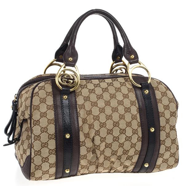 Gucci Interlocking Medium Boston Bag