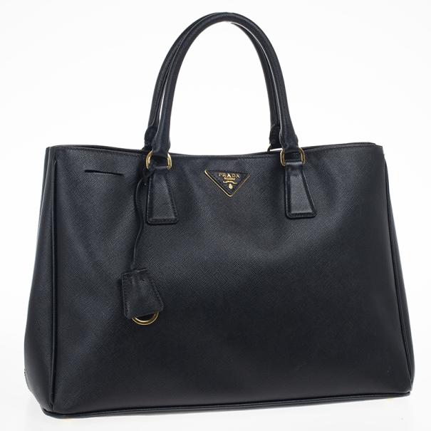 Prada Black Saffiano Lux Tote Bag