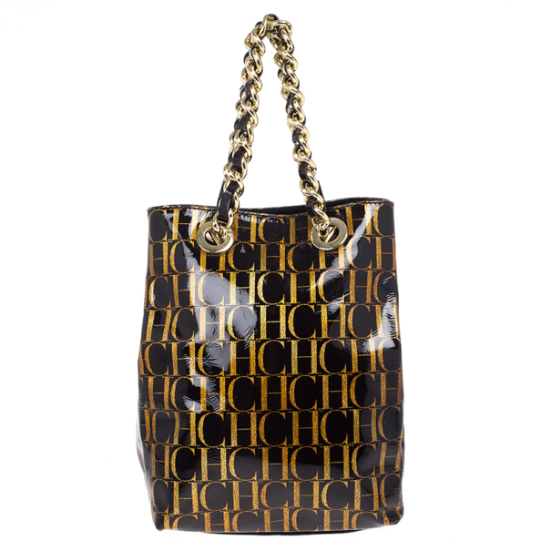 Carolina Herrera Monogram Chain Handle Tote