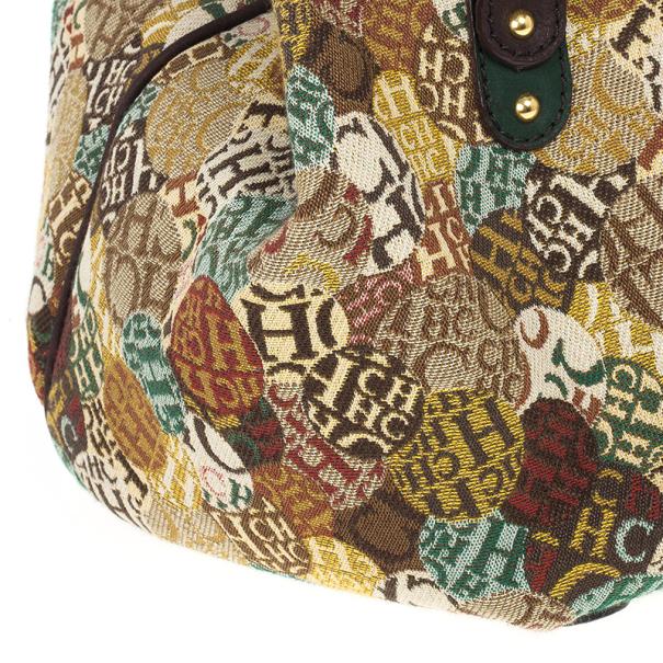 Carolina Herrera Multicolored Signature Large Tote