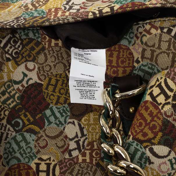 Carolina Herrera Multicolored Signature Large Tote