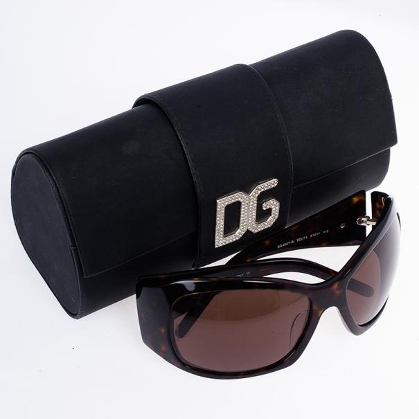Dolce and Gabbana DG Strass Tortoise Frame Sunglasses