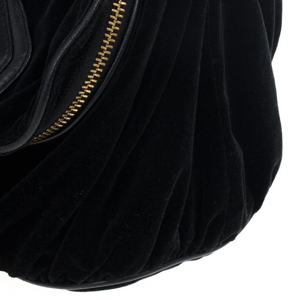 Marc Jacobs Kaleidoscope Flower Black Velvet Hobo