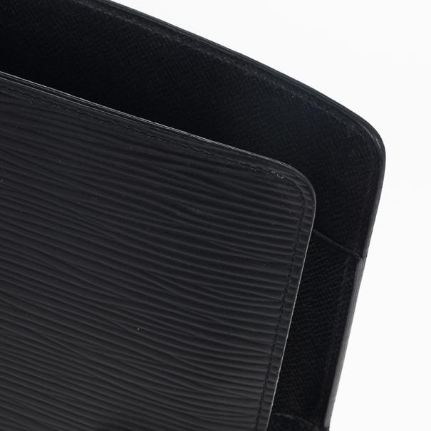 Louis Vuitton Black Epi Electric Medium Agenda Cover