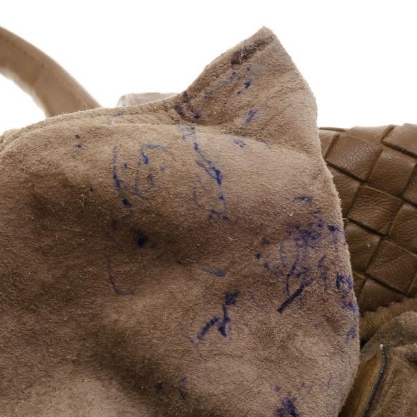 Bottega Veneta Intreciato Brown Top Handle Bag