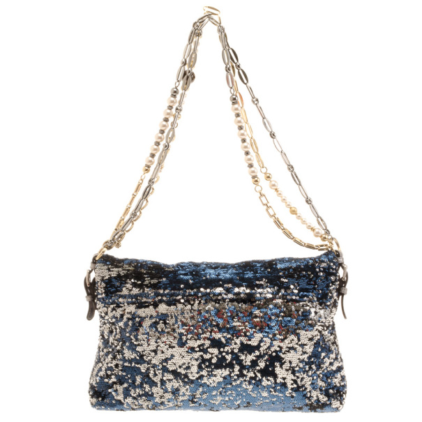 Dolce and Gabbana Miss Charles Sequin Bag