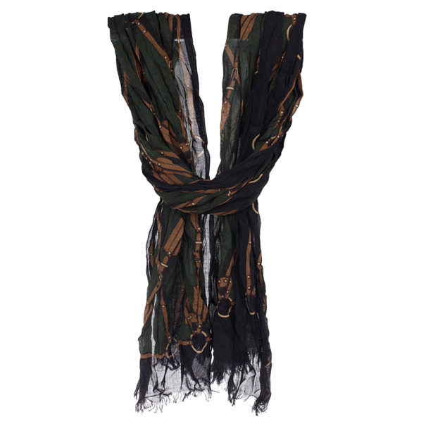 Gucci Green Printed Stole