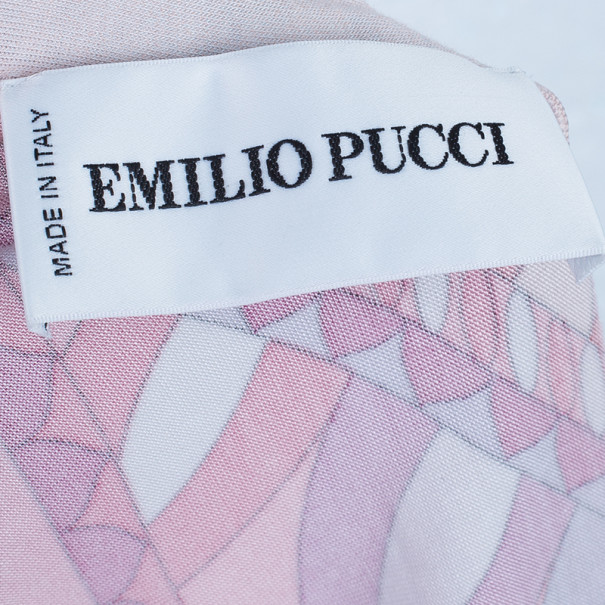 Emilio Pucci Long Sleeve Abstract Print Top M
