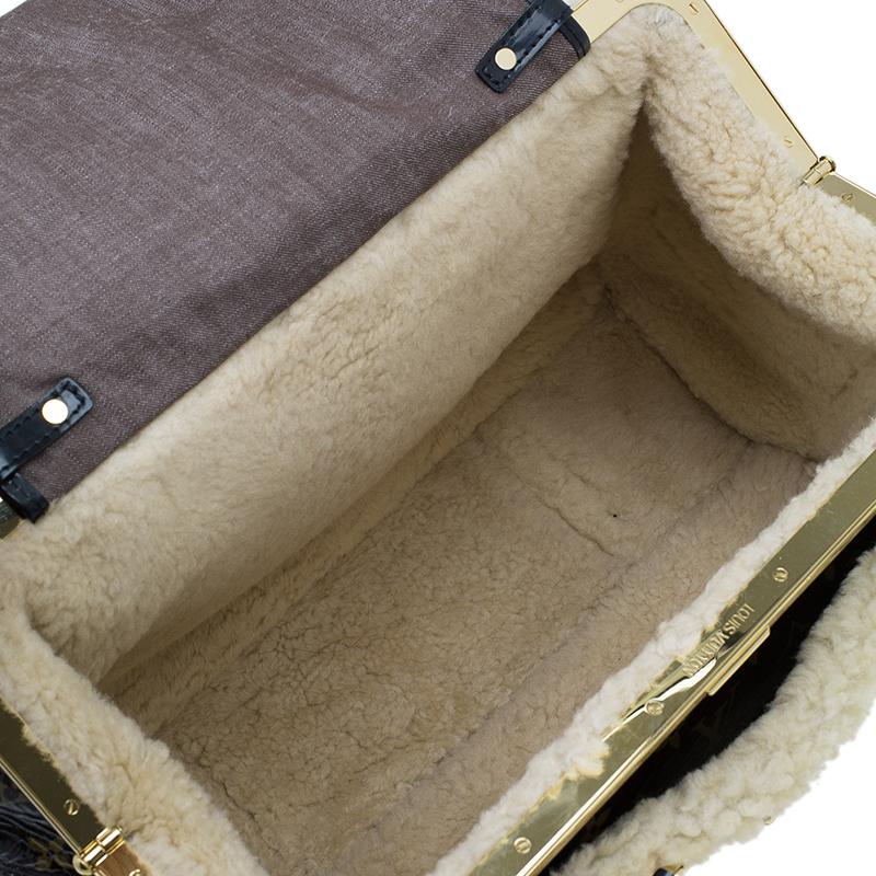 Louis Vuitton Monogram Limited Edition Shearling Storm Bag