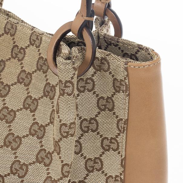Gucci GG Monogram & Leather Tote