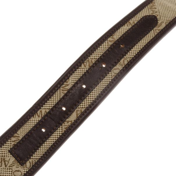 Emporio Armani Monogram Canvas Belt Size 38