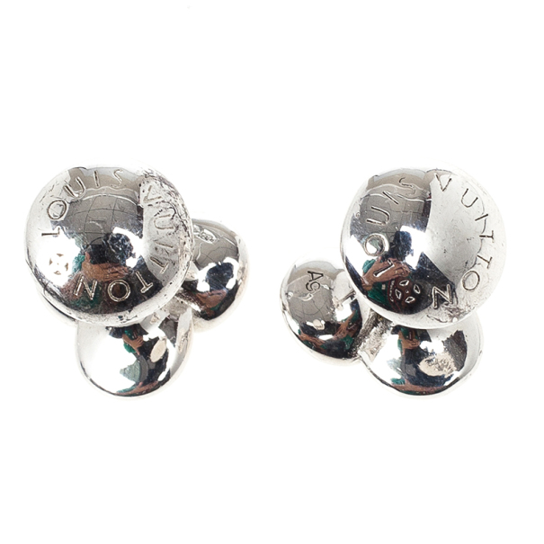 Louis Vuitton Silver Bouquet Cufflinks