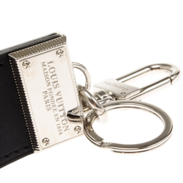 Louis Vuitton Black Leather Keyring