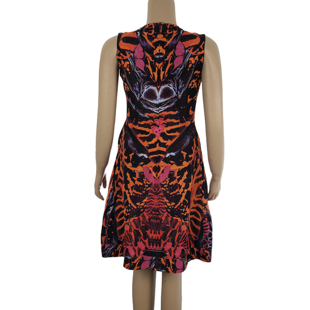 McQ by Alexander McQueen Multicolor Printed Skater Dress M