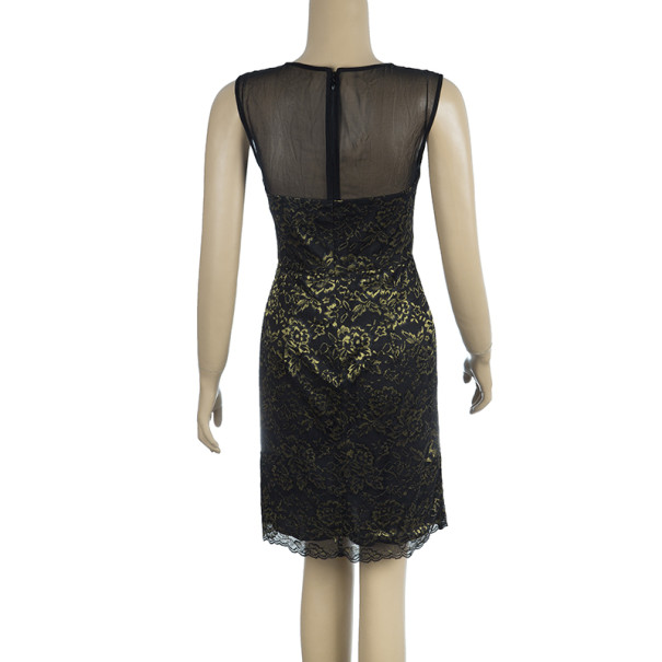 Diane Von Furstenberg Nisha Metallic Lace Dress S