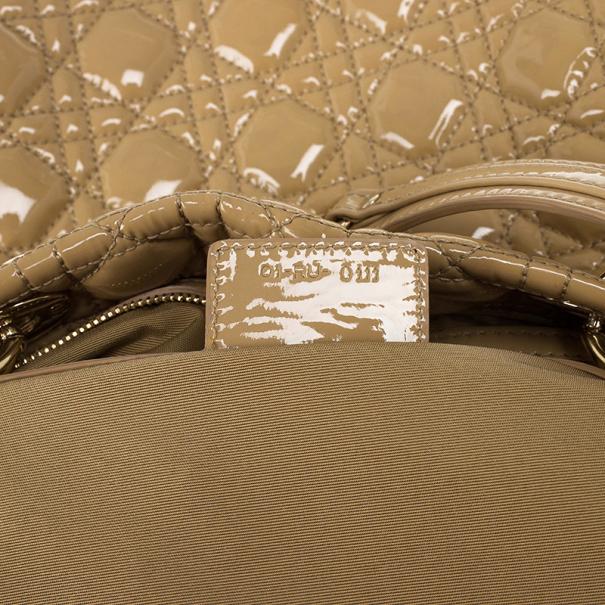 Christian Dior Soft Lady Dior Beige Cannage Shopper Tote