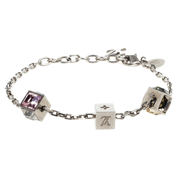 Louis Vuitton Gamble Silver Light Bracelet 21 CM
