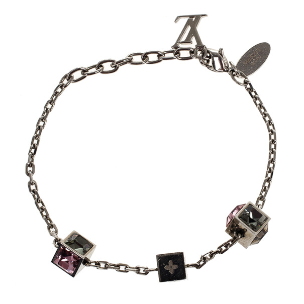 Louis Vuitton Gamble Silver Light Bracelet 21 CM