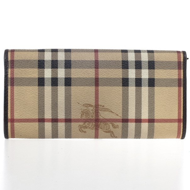 Burberry 'Haymarket Check' Continental Flap Wallet