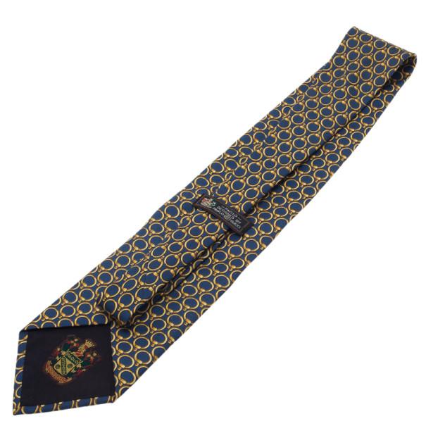 Gucci Blue Printed Tie