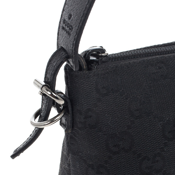 Gucci Black Canvas Pochette Bag