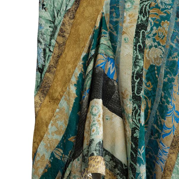 Roberto Cavalli Printed Silk Skirt Set M