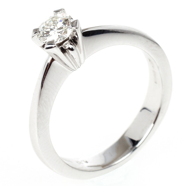 Damiani 0.37ct Diamond Solitaire Size 53