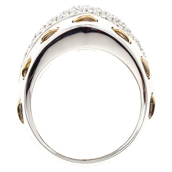 Damiani Diamond Pave Laced Edge Ring Size 54