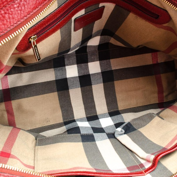Burberry Leather Signature Bag