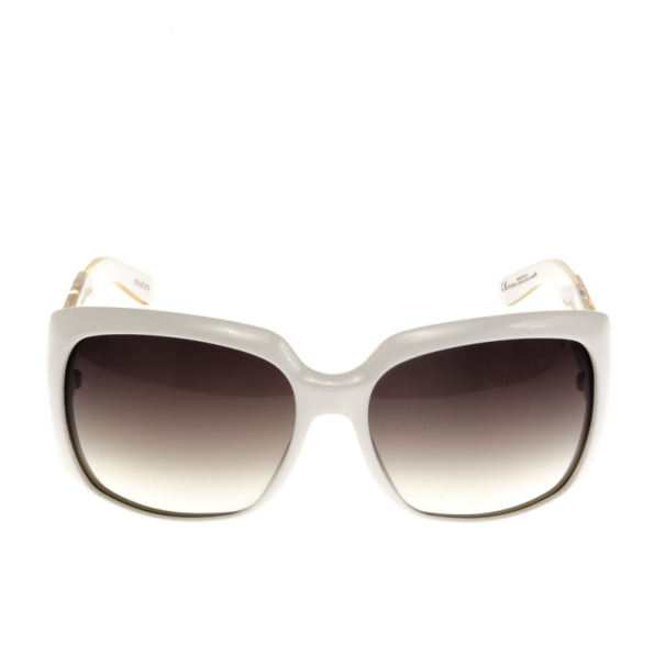 Gucci White 3062 Chain Link Sunglasses